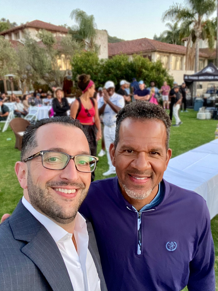 Managing Partner David P. Shapiro with Andre Reed at Fairbanks Ranch Country Club on 05/03/2021