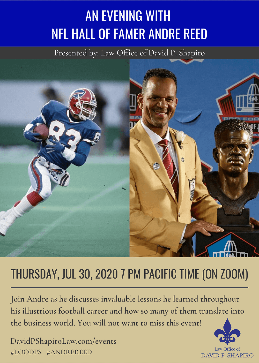 An evening with Andre Reed