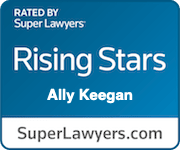 Ally Keegan Super Lawyer Rising Star Rating